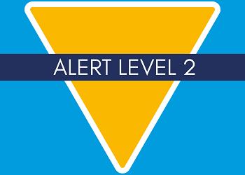 Alerta Nível 2 Nova Zelândia