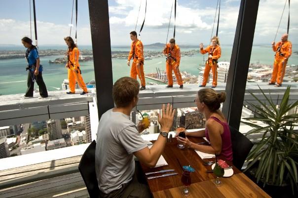 Skywalk e Orbit Restaurant Auckland